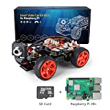 SunFounder Raspberry Pi Smart Video Robot Car Kit with Rpi 3B+ and SD Card, V2.0 Electronic Camera Toy, Graphical Visual Programming Language Supported, Remote Control by UI on Windows/Mac and Web Bro (Color: PiCar-V with 3B+ SD)