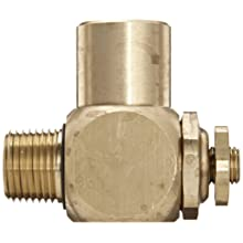 "Parker 032510500 3251 Series Brass Right Angle Flow Control Valves, 1/2"" NPT Male x Female, 125 psi"