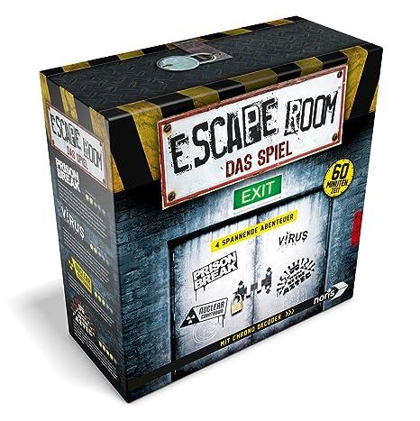 Jeux Noris 606101546–Escape Room avec 4cas et Chrono Décodeur