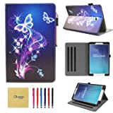 Samsung Galaxy Tab E 9.6 Case, SM-T560 Case, Dluggs Slim Fit Lightweight Protective PU Leather Folio Stand Case with Cards Slots for Galaxy Tab E/Tab E Nook 9.6 Inch Tablet, Butterfly (Color: 06 Butterfly)