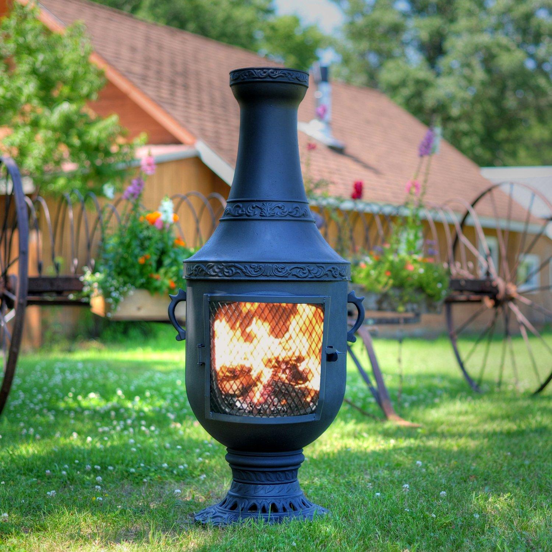 comfortchannel com u003e chiminea outdoor fireplaces cast aluminum