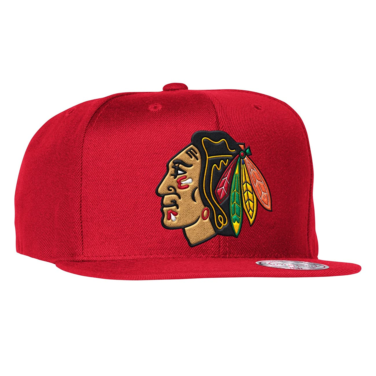 Mitchell & Ness Men's The Chicago Blackhawks Vintage Wool Solid Snapback Cap One Size Red 0
