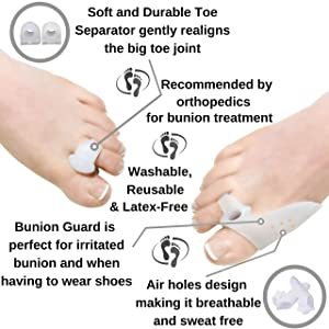 Bunion Corrector & Bunion Relief Kit, Bunion Splint, Big Toe Corrector Straightener Brace, Toe Separators Spacers Straighteners, Hammer Toe, Hallux Valgus, Toe Joint Pain Relief Aid for Men & Women (Color: Bunion Corrector, Tamaño: One Size Fits Most (5-12))