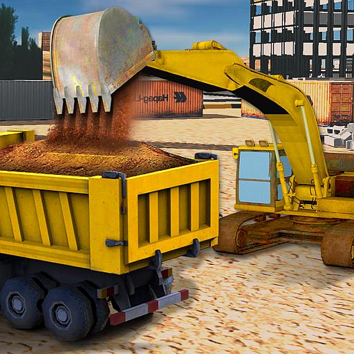 sabbia-escavatore-costruzione-sim