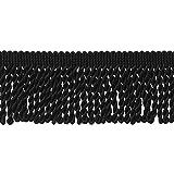 DÉCOPRO 10 Yard Value Pack of Black 2.5 Inch Bullion Fringe Trim, Style# EF25 Color: K9 (30 Ft / 9.1 Meters) (Color: Midnight's Embrace, Tamaño: 2 1/2