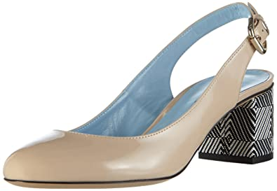 Pollini SCARPAD.DD SQ3/55 VERN.NUDE/DOM.BN, Sandales  Bout ouvert femme