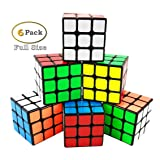 INTEGEAR Magic Speed Cube 3x3 Easy Turning and Smooth Play Puzzle Cube 56mm (6 Pack) (Color: 3x3 (6 Pack))
