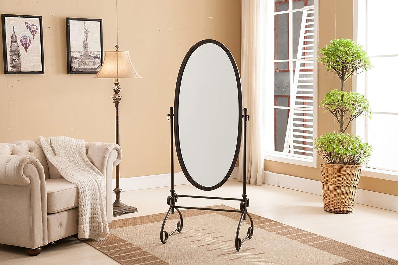 Kings Brand Furniture Metal Cheval Standing Floor Mirror