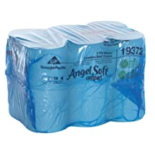 "Angel Soft ps 193-72 Compact 4.05"" Length, 3.85"" Width, 5.75"" Roll Diameter Coreless High Capacity 2-Ply Premium Bathroom Tissue (Roll of 18)"