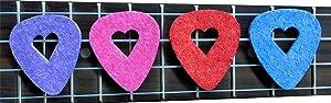 BoloPick Felt Ukulele Picks, with Easy to Hold Heart Shape Cutout, 8 Pack, Multi (Color: Original, Tamaño: 8 Pack)