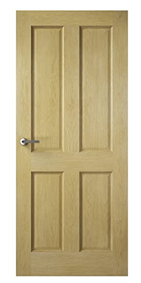 Premdor 82120 838 x 1981 x 35 mm 4-Panel Fully Finished Internal Door - Oak