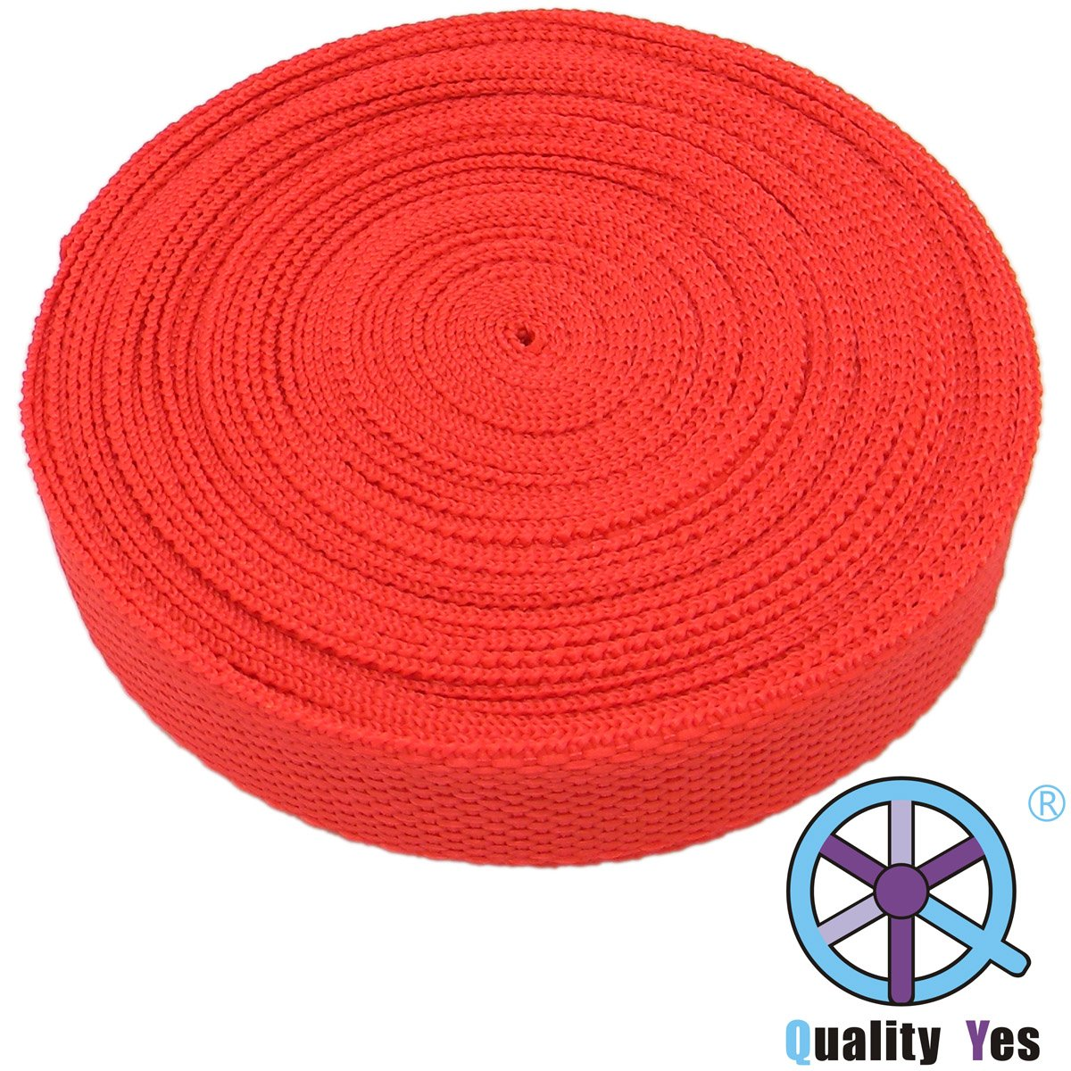 QY Red Color 10M 32.8Ft Polypro Webbing Nylon Heavy Webbing Outdoor Rescue Rope yes yes relayer cd dvd