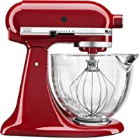 KitchenAid 5-Quart Tilt-Head Stand Mixer with Glass Bowl & Flex Edge Beater (Multiple Colors)