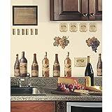 RoomMates RMK1257SCS Wine Tasting Peel & Stick Wall Decals (Color: Wine Tasting, Tamaño: 8