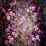 Kate 8x8ft Abstract Photography Backdrops Painting Pink Flowers Photo Background for Princess Backdrop (Color: 7148, Tamaño: 8x8ft)