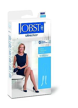 JOBST UltraSheer Knee High 15-20 mmHg Compression Stockings, Open Toe, Medium, Natural (Color: Natural, Tamaño: Medium)