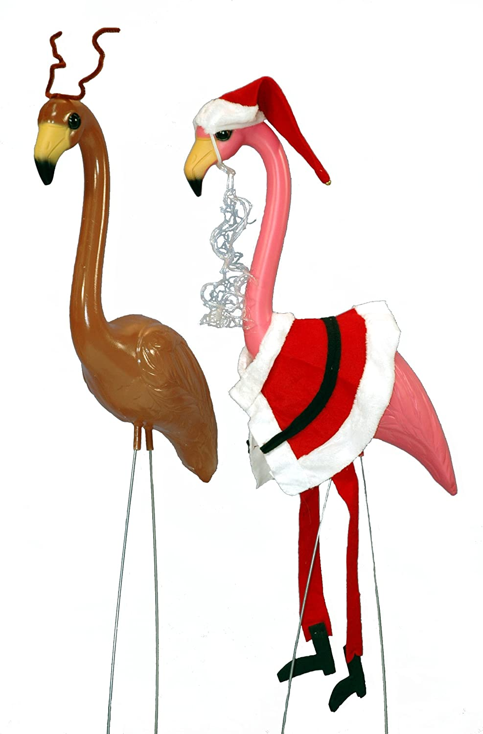 33in holiday flamingo set w outfits christmas outdoor lawn for Christmas lawn ornaments