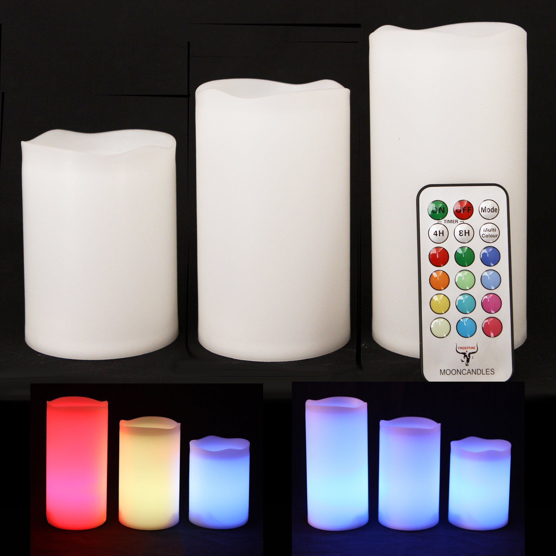 Color Changing Flameless Candles with Timer image