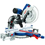Bosch Power Tools GCM12SD - 15 Amp 12 in. Corded Dual-Bevel Sliding Glide Miter Saw with 60 Tooth Saw Blade (Color: Blue, Tamaño: full size)