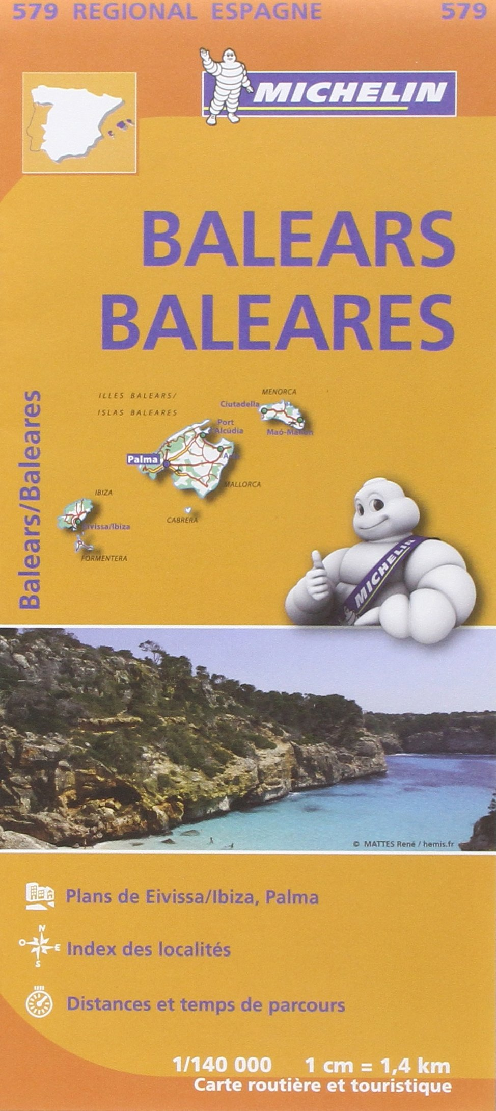 Carte Baléares Michelin