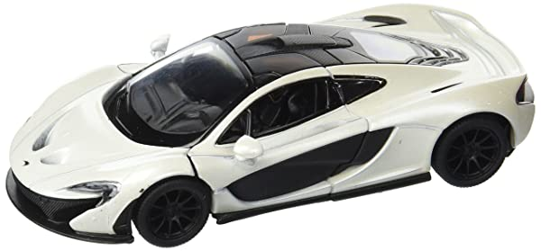 Kinsmart McLaren P1, White 5393D - 1/36 Scale Diecast Model Toy Car (Color: White)