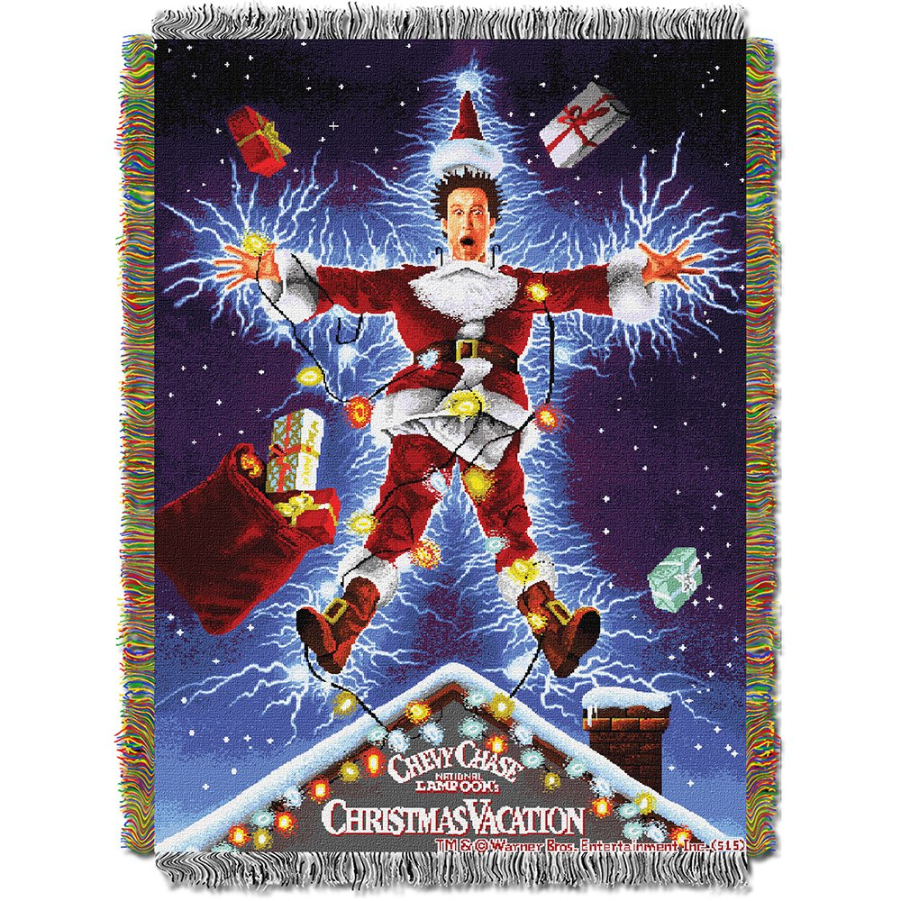 The Northwest Company Warner Bros Christmas Vacation Shocking Chevy Tapestry Throw, 48 by 60-Inc