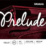 D'Addario J1010 4/4M  Prelude Cello String Set, 4/4 Scale, Medium Tension