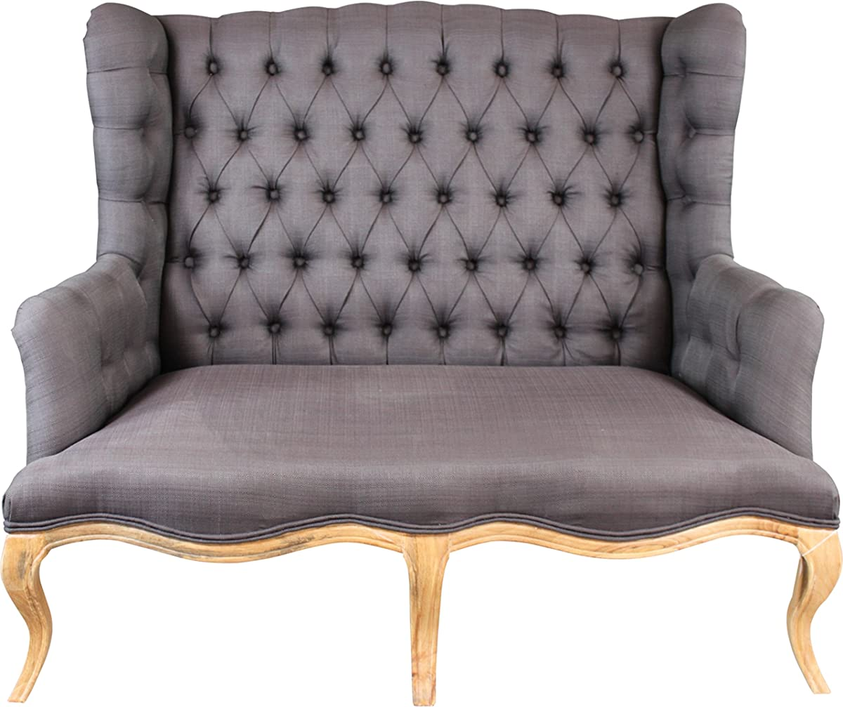 Established 98 20022 High Back Tufted Settee