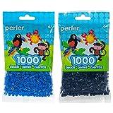 Perler Bead Bag 1000, Bundle of Cobalt Blue and Midnight (2 Pack) (Color: Cobalt Blue & Midnight)