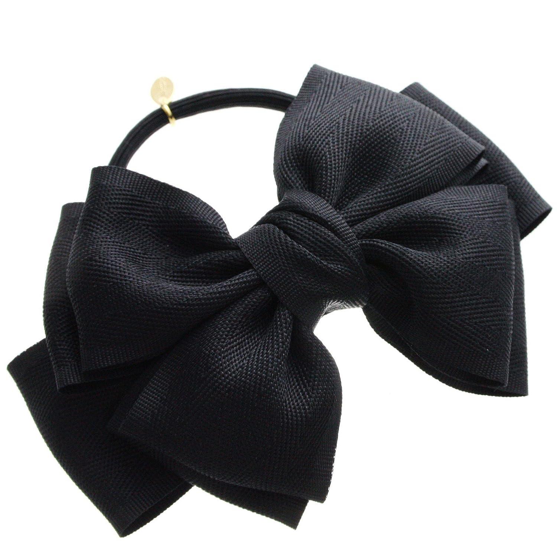 [ヴァンテーヌ] VINGTAINE レディ ツインリボン ヘアゴム ヘアアクセサリー シンプル H-462-BK ブラック : 服&ファッション小物通販 | Amazon.co.jp