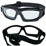Clear Motorcycle Riding Goggles: Heavy-Duty Riding Goggles No Foam Design w/Hard Case, Microfiber Cleaning Cloth & Pouch Included. (Clear Lens) (Color: Clear Lens)