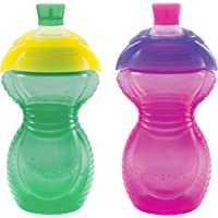 Munchkin Click Lock Bite Proof Sippy Cup 9 Ounce, 2 Count ( Green/Pink)