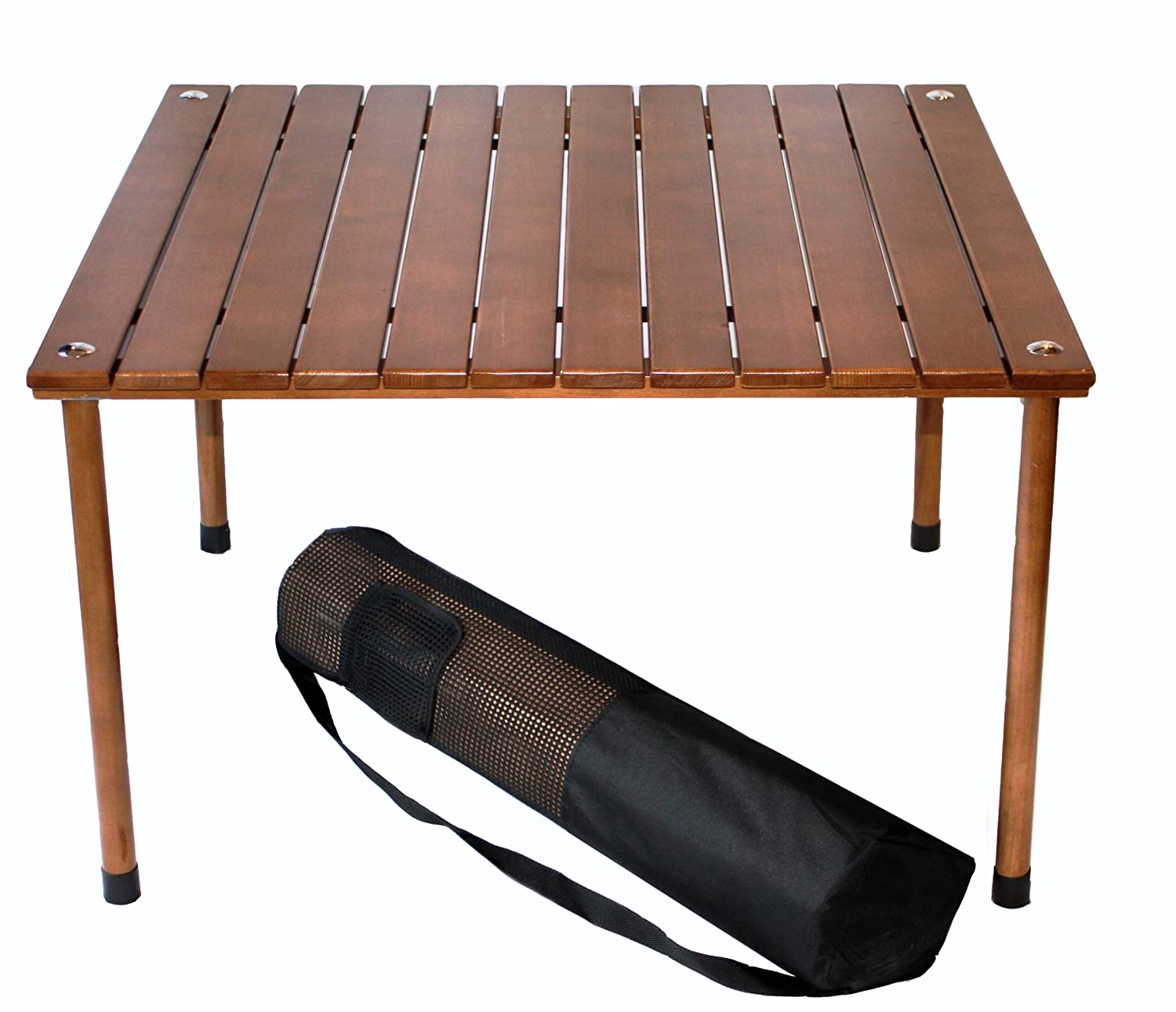 Portable folding camping picnic table wood low desk indoor for Low dining table