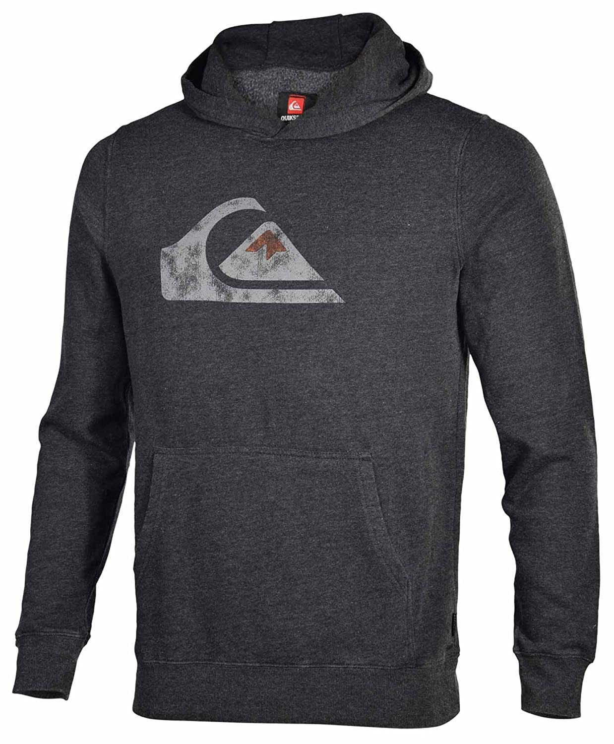 Quiksilver Mens Rooney Pullover Hoodie-Light Gray
