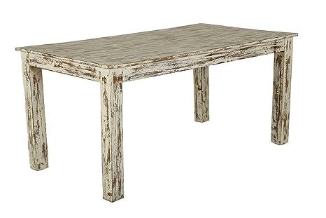 chicandclic–Table salle à manger en teck 160x 90x 76cms