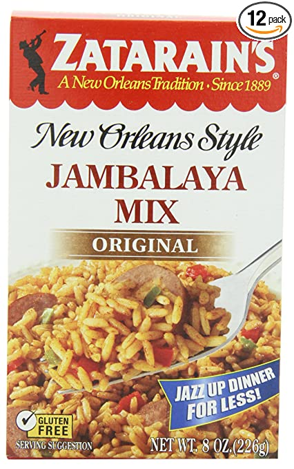 Zatarain's New Orleans Style Jambalaya Mix, 8-Ounce Boxes (Pack of 12)