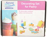 Seven Seas Steel & Plastic Decorating Set For Pastry, 10 cm x 8 cm x 2 cm, 5 Pieces