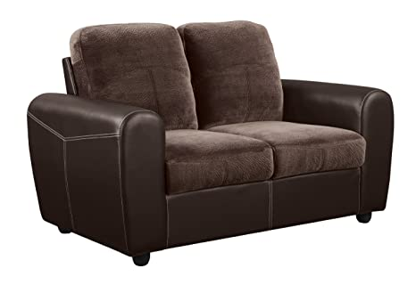 Global Furniture Loveseat, Champion Chocolate Brown