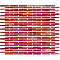 Susan Jablon Mosaics - 1/4 Inch Iridescent Red Stained Glass Subway Tile