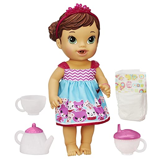 Baby Alive Lil 'Sips bébé dispose d'une poupée Tea Party (Brunette)