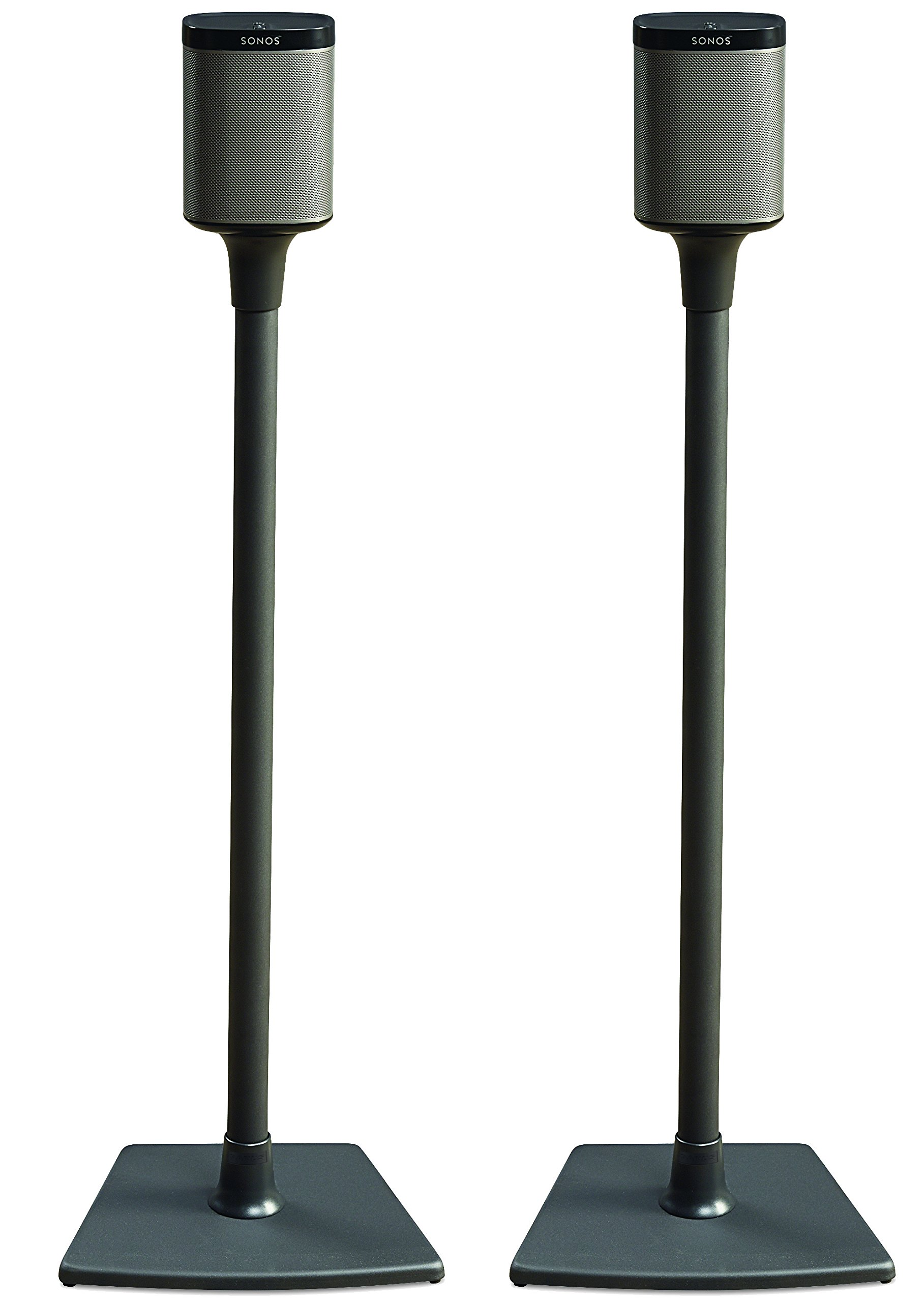 sonos play 1 and play 3 compatible wireless speaker stand pair black ebay. Black Bedroom Furniture Sets. Home Design Ideas