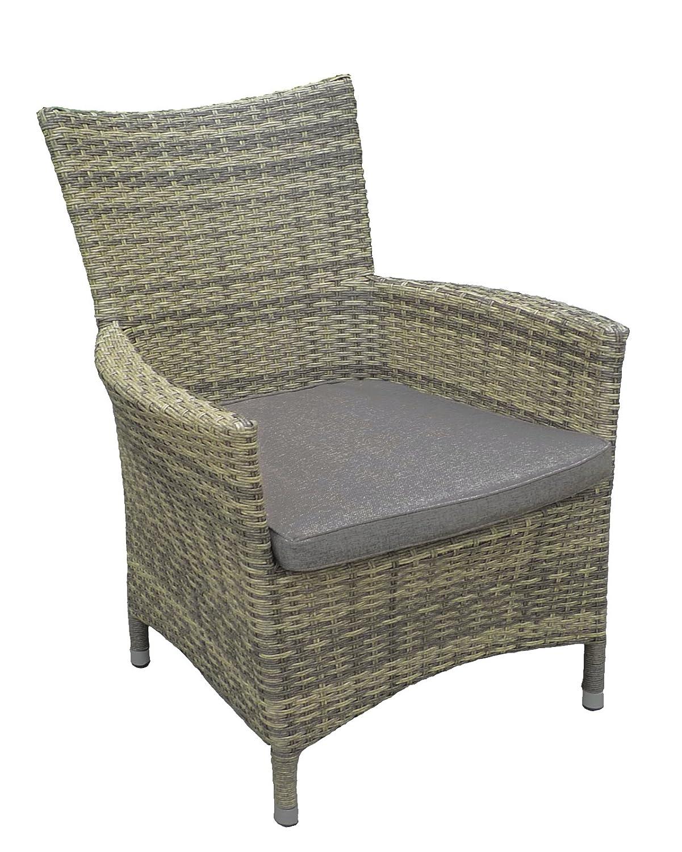 6x Luxus Polyrattan Gartenstuhl Sessel Rattan Stuhl Gartenstühle Gartenmöbel Gartensessel Loungesessel Relaxsessel Gartenstühle Balkonstuhl kaufen