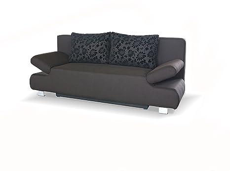 SAM® Schlafsofa Reno in braun, Schlaf-Couch mit Stoff-Bezug in modernem Design, Rucken-Kissen inklusive