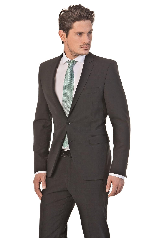 Slim-fit Anzug in Schwarz mit modisch modernen Streifen, Marke: Tessile d'Oro, Art. Marcel/Square kaufen