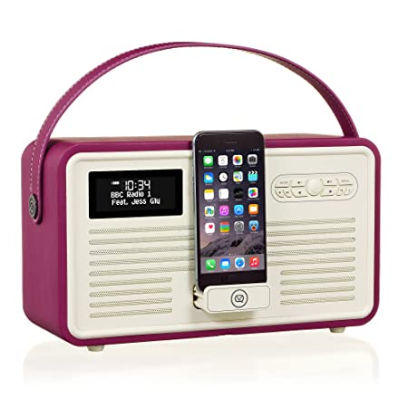 VQ Retro MKII Radio DAB+ avec haut-parleur Bluetooth Violet foncé