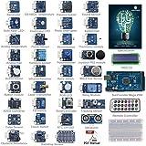 SunFounder Ultimate Mega 2560 Sensor Kit V2.0 for Arduino UNO R3 Mega2560 Mega328 Nano - Including 98 Page Instructions Book (Color: with Mega)