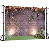 OUYIDA 7X5FT Brick Wall Flower Pictorial cloth photography Background Computer-Printed Vinyl Backdrop PCK05 (Tamaño: 7X5FT)