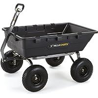 Gorilla Carts Extra Heavy-Duty Poly Dump Cart with a Capacity of 1500 lb (Black)