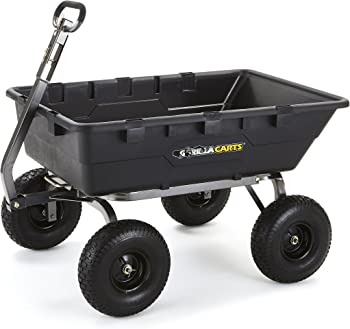 Gorilla Carts Extra Heavy-Duty Poly Dump Cart