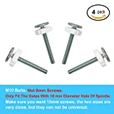 Sungrace M10 Pressure Mounted Baby Gates Threaded Spindle Rods Accessory Screw Mounted Bolts Kit (4 Pack, 10 mm) (Color: white, Tamaño: 4 Pack, 10mm)
